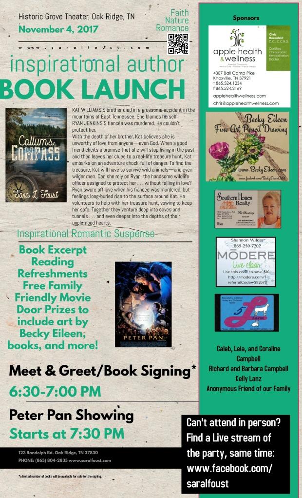 Callum's Copy Book Launch Event Flyer