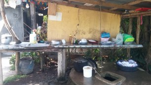 Part of the kitchen where the ladies cook